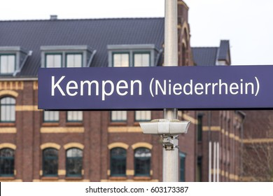 kempen germany city sign