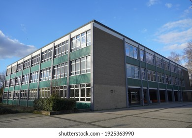 Kempen,Germany- Febuary 21,2021 : German active Highschool ' Liuise-von-Duesberg-Gymnasium' Founded in 1867 in Kempen