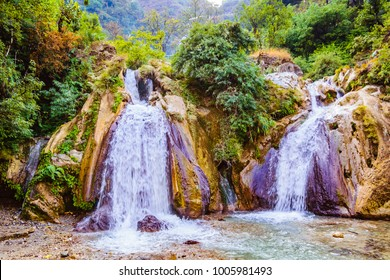 Kempty Falls is a magnificent waterfall nearly 1364m above sea level in the lap a green valley, Uttarakhand, India. The falls are situated on the hilly tracks,13 km from Mussoorie on the Chakrata Road
