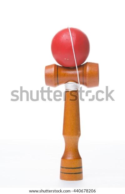 Ken dama toy isolated on white background