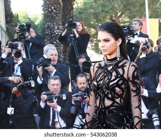Kendall Jenner attends the screening of 'From The Land Of The Moon (Mal De Pierres)' at the annual 69th Cannes Film Festival at Palais des Festivals on May 15, 2016 in Cannes, France.