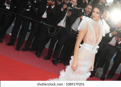 Kendall Jenner attends the screening of 'Girls Of The Sun (Les Filles Du Soleil)' during the 71st annual Cannes Film Festival at Palais des Festivals on May 12, 2018 in Cannes, France
