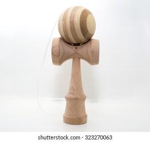 Kendama traditional Japanese toy with white background