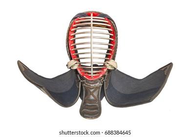 Kendo Helmet or Men  isolate white background.