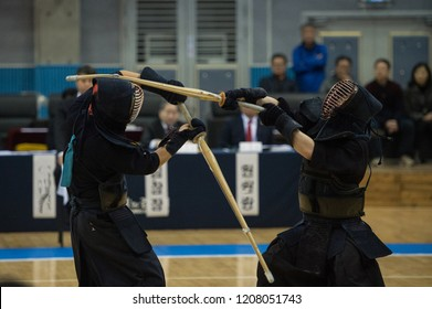 Kendo players to the game