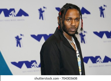 Kendrick Lamar at the 2017 MTV Video Music Awards held at the Forum in Inglewood, USA on August 27, 2017.