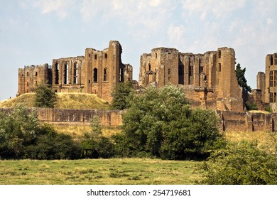 Kenilworth,  England - August 1, 2013: Kenilworth Castle and Elizabethan Garden. The ruins are best known as the home of Robert Dudley, the great love of Queen Elizabeth I.