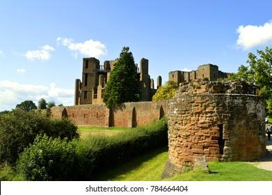 Kenilworth, Warwickshire, England, United Kingdom - August 17, 2014 : The historical Kenilworth Castle in Warwickshire