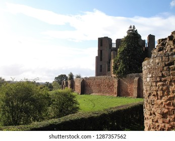 Kenilworth, West Midlands / United Kingdom - September 2011: Kenilworth Castle and Elizabethan Garden near Kenilworth, Warwickshire
