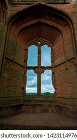 Kenilworth/England -June 4th 2019  English heritage Kenilworth Castle  stunning  ruins  window arches