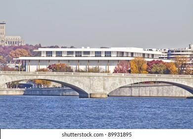 Kennedy Art Center in the background of Memorial Bridge, Washington, DC