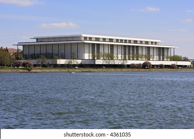 The Kennedy Center and Potomac River in Washington, DC.