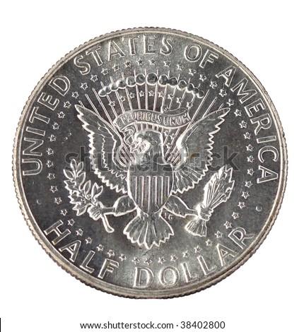 Kennedy half dollar back