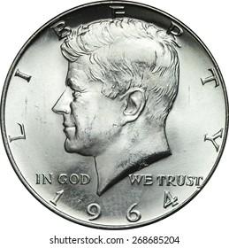 Kennedy Half Dollar Portrait