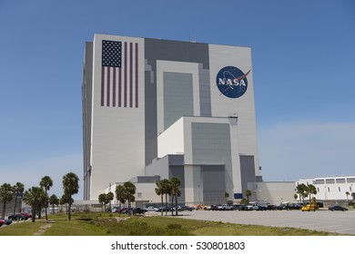 Kennedy Space Center, Brevard County, Florida, USA May 6, 2016. NASA's Vehicle Assembly Building at the Kennedy Space Center, Florida.