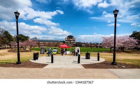 KENNESAW, GA - March 14: Scene from The Green at Kennesaw State University on March 14, 2019. The school is the third largest university in Georgia with an enrollment of more than 24,000 students.