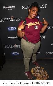 "Kennikki Jones-Jones attends 19th Annual Horror Film Festival – ScreamFest - Opening Night ""Eat, Brains, Love"" Los Angeles Premiere at TLC Chinese Theatre, Hollywood, CA on October 8, 2019"