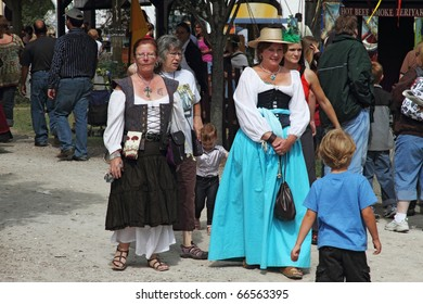 KENOSHA, WI - SEPTEMBER 4: People dressed in medieval costumes at the annual Bristol Renaissance Faire on September 4, 2010 in Kenosha, WI