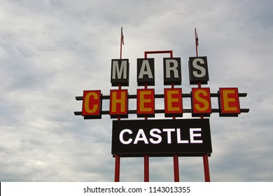 "Kenosha, WI / United States - July 25, 2018: Mars Cheese Castle has been an iconic road stop and ""cheese landmark"" on interstate 94 between Milwaukee and Chicago for generations going back to 1947."