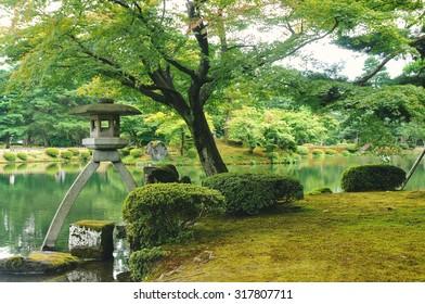 Kenrokuen Garden in Kanazawa City