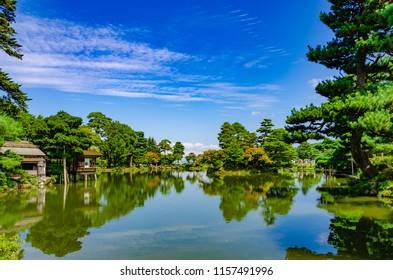 Kenroku-en Garden in Kanazawa, Ishikawa, Japan