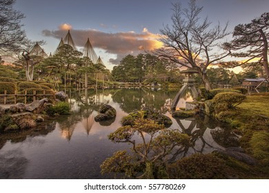"Kenrokuen in Kanazawa is justifiably classified as one of Japan's ""three most beautiful landscape gardens"" alongside Mito's Kairakuen and Okayama's Korakuen."