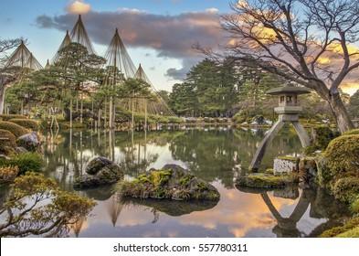 "Kenrokuen in Kanazawa is justifiably classified as one of Japan's ""three most beautiful landscape gardens"" alongside Mito's Kairakuen and Okayama's Korakuen."