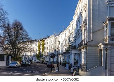 Kensington area in winter, London