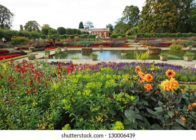 Kensington palace garden in London