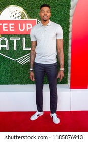 Kent Bazemore - Tee Up Atlanta at the College Football Hall of Fame in Atlanta Georgia - USA , September 17th 2018- The Tour Championship PGA Tour golfers