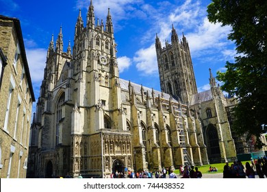 KENT, ENGLAND - 17 JULY 2016. The Canterbury Cathedral
