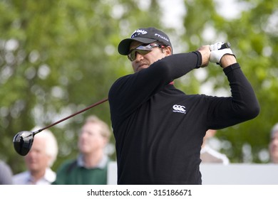 KENT ENGLAND, 27 MAY 2009. Michael CAMPBELL (NZL) playing in the first round of the European Tour European Open golf tournament.