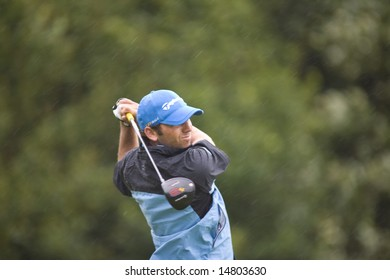 KENT UK JULY 6. Spain's Sergio Garcia competing at the PGA European Tour European Open at the London Golf Club Ash Kent England from the 2nd to 6th July 2008