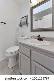 Kent, WA / USA - Jan. 29, 2019: Modern bathroom interior