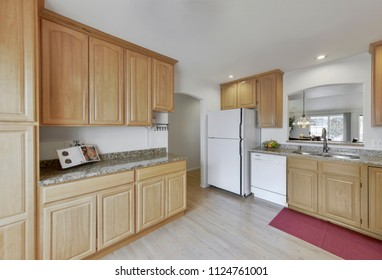 Natural Maple Kitchen Cabinets White Appliances Images Stock Photos Vectors Shutterstock