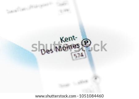 Kent Des Moines Station Seattle Metro Map Stock Photo Edit Now