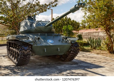 Kenting, Hengchun Township, Pingtung County, Taiwan - December 31 2015: A M41 Panzer, exhibited in Hengchun Township