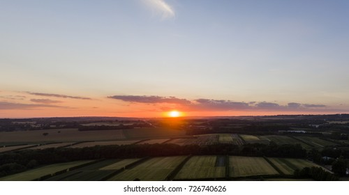 Kentish Sunset Aerial Photo