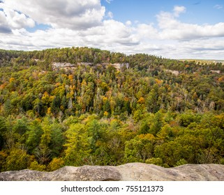 Kentucky Mountain Panorama. Overlook view from the Red River Gorge in the Daniel Boone National Forest in Slade, Kentucky.