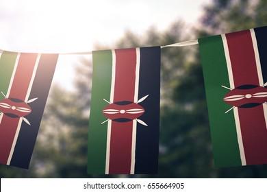 Kenya flag pennants
