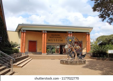 KENYA, NAIROBI - JULY 29, 2018; Entrance to the Nairobi National Museum
