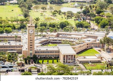 Kenya Parliament Buildings in the city center of Nairobi.