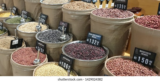 Kenyan Food Market with nuts and dried fruit