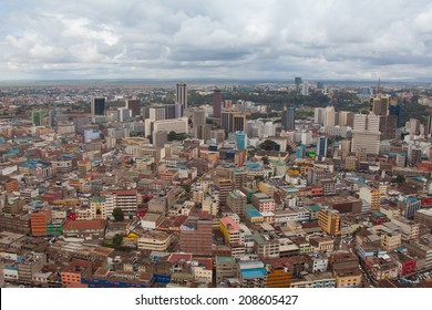 Kenya's gorgeous cityscape from the sky