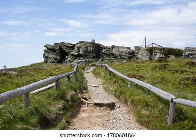 Keprnik, Jeseniky mountains, Czech Republic / Czechia - top of the hill and mountain. Rock and Path, footpath and pathway  - Shutterstock ID 1780601864