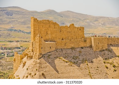 Kerak Castle, a large crusader castle in Kerak (Al Karak) in Jordan.