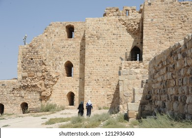 Kerak Castle is a large Crusader castle located in al-Karak, Jordan. It is one of the largest crusader castles in the Levant. Construction of the castle began in the 1140s, under Pagan and Fulk