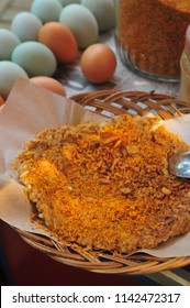 Kerak telor (English: Egg crust) is a Betawi traditional spicy omelette dish in Indonesian cuisine