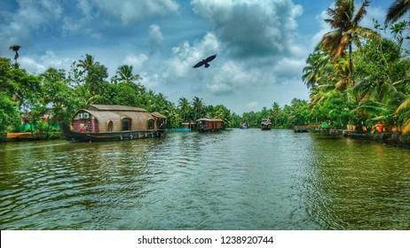 Kerala Backwaters at Alleppey on a Houseboat