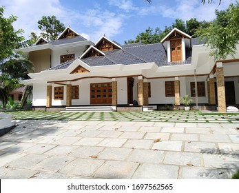 kerala big house in sunlight view